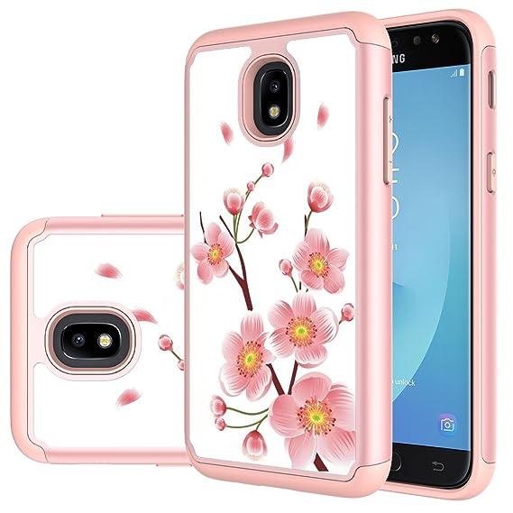 MAIKEZI TPU Plastic case Compatible Samsung Galaxy J3 2018/J3 V 3rd gen/J3  Eclipse 2/Orbit/Achieve/Express Prime/Prime 2/Emerge 2018/Amp Prime 3/Sol
