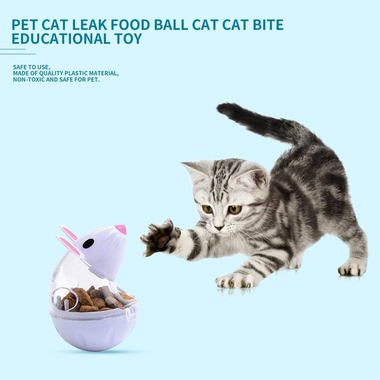 Sairis Pet Cat Alimentador de Fugas para Perros Dispensador de Comida Lenta Ratones Tumbler Design Ball Toy Pet Tumbler Toys Contenedores de Comida Perros Gato