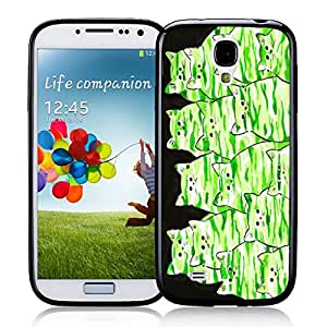 Green Camo Camouflage Kitties Abstract Cat by Denise Every Samsung Galaxy S4 Black Case