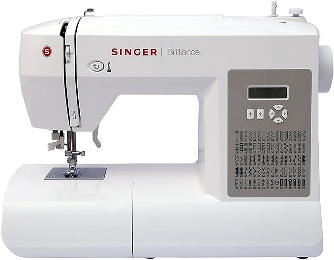 Maquina de Coser Electronica Singer Brilliance 6180, 80 Programas Automaticos, Puntada, Costura: Amazon.es: Hogar