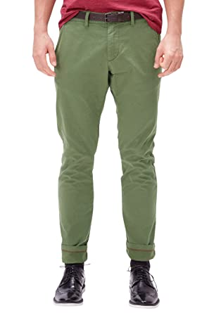 factory outlets fashion styles 100% high quality s.Oliver Herren Sneck Slim: Chino mit Gürtel: s.Oliver ...