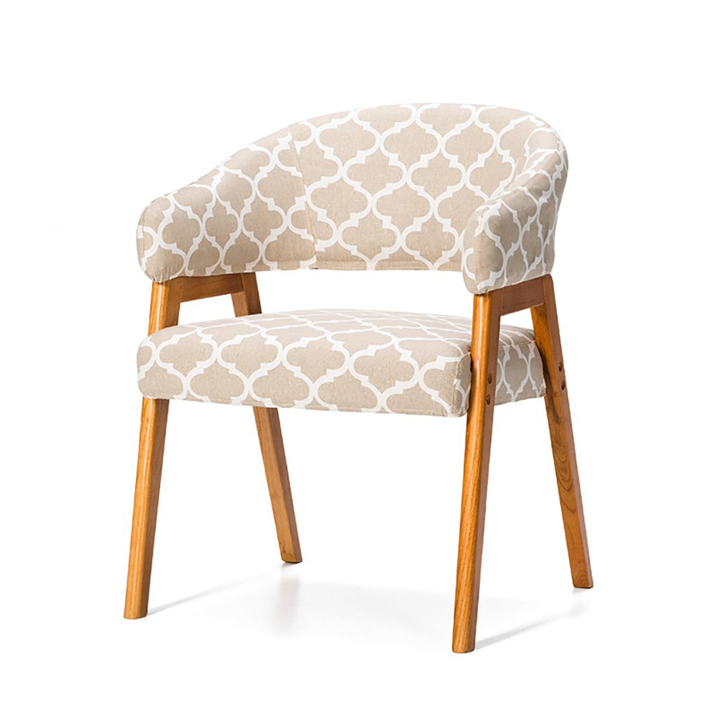 CaoyuPiccolo Sgabello Sedia in Legno massello con braccioli in Tessuto Sedia da Pranzo Sedia da Ufficio Sedia da Ufficio (colore   B, Dimensioni    1)