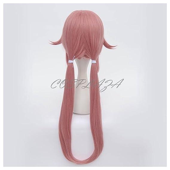 ... de largo COSPLAZA Gasai Yuno Somke color rosa y Anime completo infantil con correa de Cosplay de pelo del cuidado de la peluca: Amazon.es: Belleza
