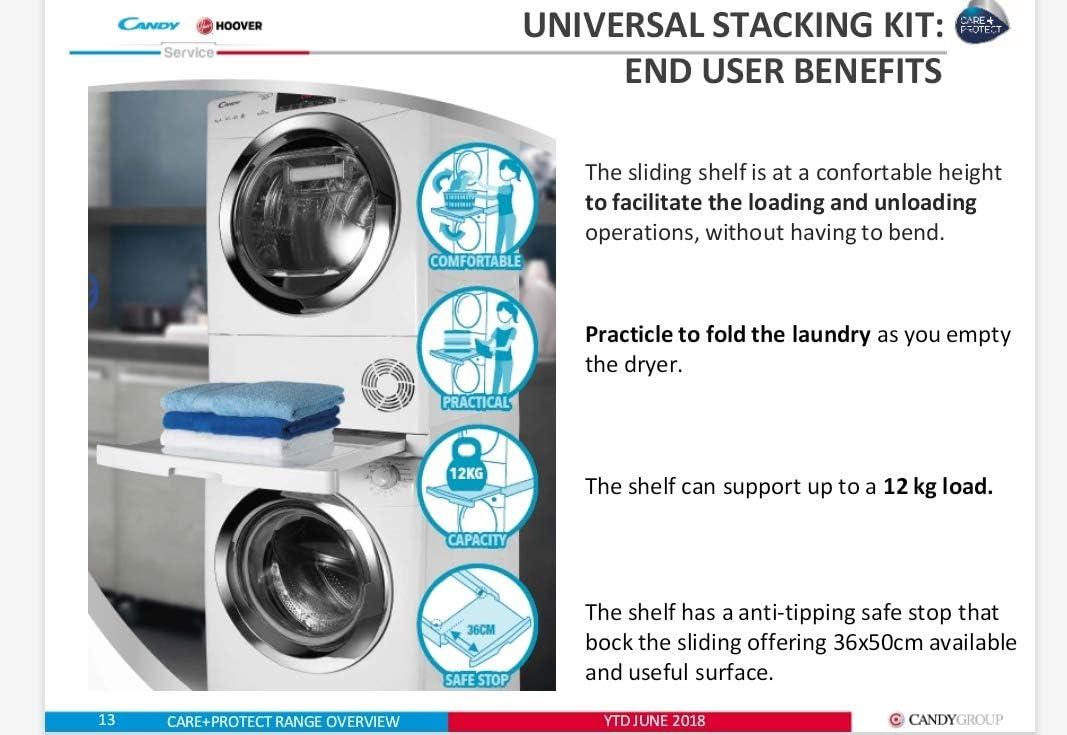 Candy Staking Kit colonna Universale Lavatrice Asciugatrice ripiano scorrevole