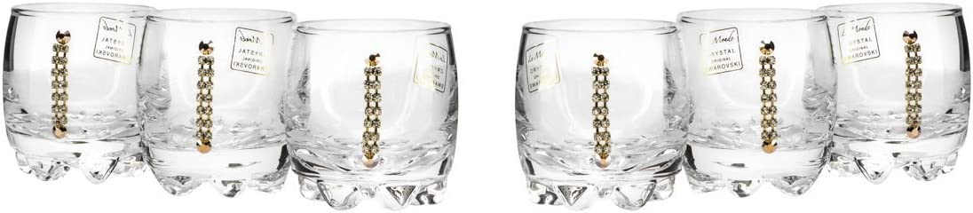 Clearance SALE! Limited time! JOZEFINA ATELIER Swarovski Crystals Shot oz Clear Glasses G Ranking TOP9 2