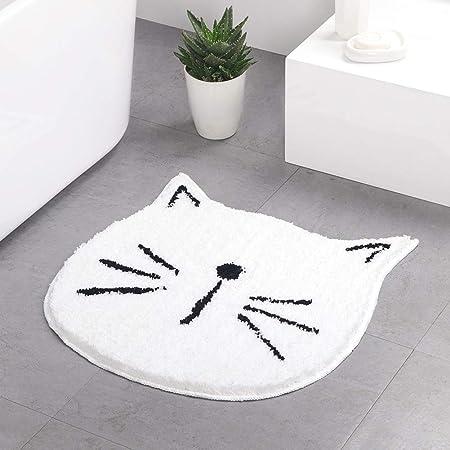meowday cute cat shaped mat bedroom area rug christmas tabby cat