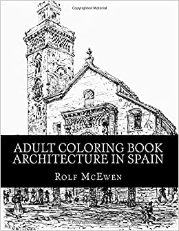 Amazon.com: Adult Coloring Book - Architecture in Spain ...