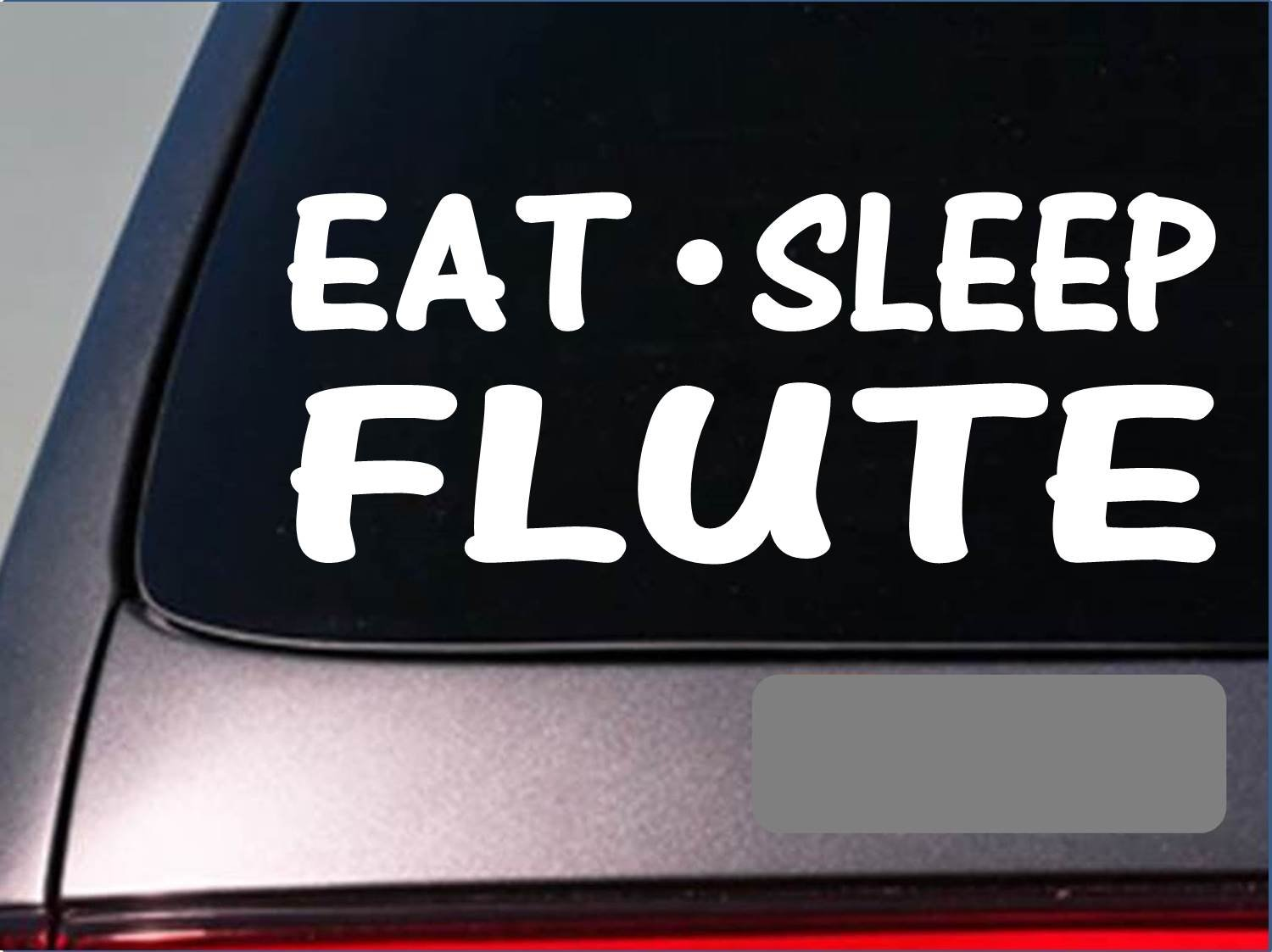 Amazon com eat sleep flute sticker g883 8 vinyl band flute case instrument orchestra automotive
