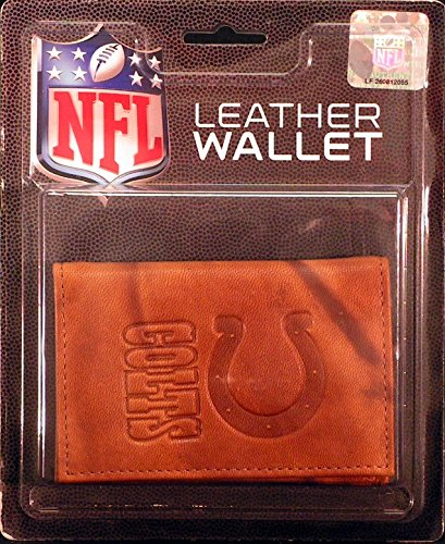 Rico Indianapolis Colts NFL Embossed Brown Leather Trifold Wallet