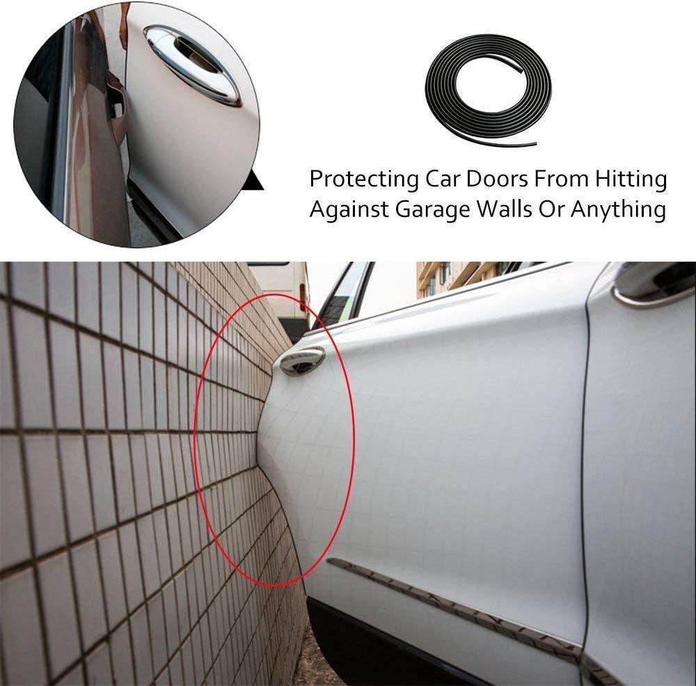 Black Grip Range 1.0mm to 2.5mm Car Door Edge Guard Protector Strips U Shape Rubber Car Door Seal Trim for Car Mental Edges Boat 4M