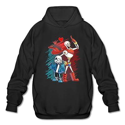 PHOEB Mens Sportswear Drawstring Hoodies Outwear Jacket,Undertale Sans And Papyrus Black