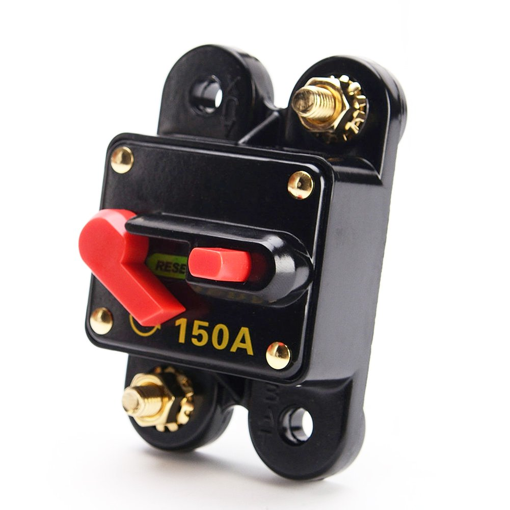 Carviya 150 Amp Circuit Breaker with Manual Reset for Car SUV Marine Boat 12V