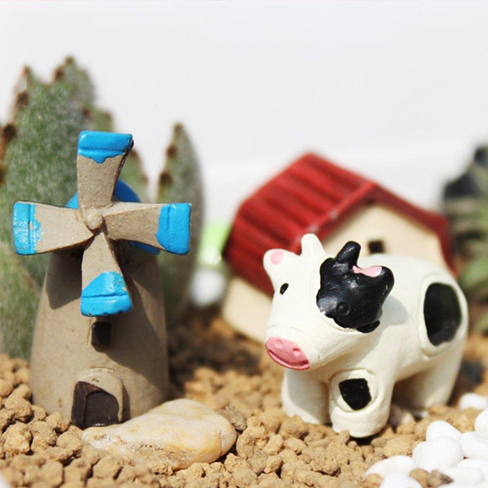 VGoodall 24 pcs Miniature Garden Ornaments, Fairy Garden Animals for Dollhouse Plant Pot, Home Decoration