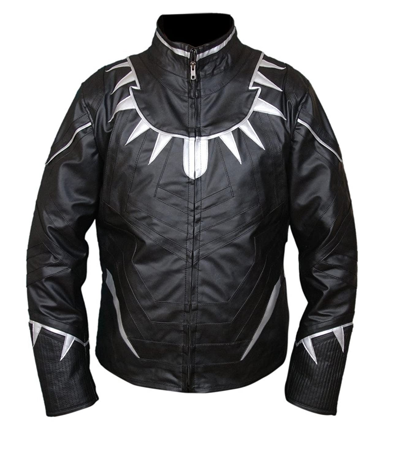 Captain America: Civil War Men's Black Panther Faux Leather Jacket - DeluxeAdultCostumes.com