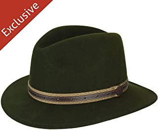 product image for Hats.com Quest Safari Fedora - Exclusive Loden, Large