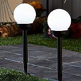 P12cheng Luz Del Césped Solar,Luces Solares,Solar Antorcha,2 Unids Bola Redonda LED Jardín Luz Solar Energía Luz Exterior Césped Patio Trasero Lámpara