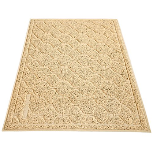 [Cat Litter Mat, Cat Box Mat - Extra Large Cat Track Mat Best Litter Mats for Cats Kitty Litter Boxes, No BPA] (Soft Touch Track Mat)