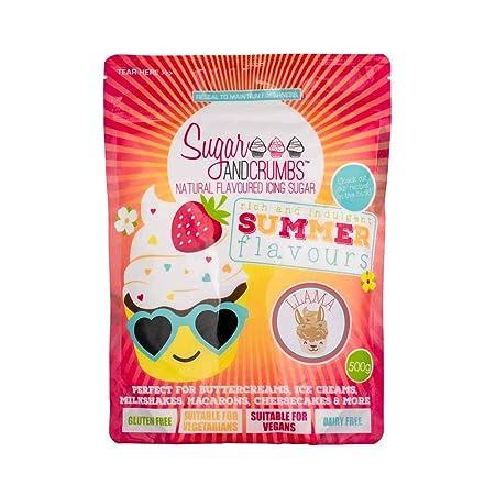 Sugar & Crumbs Llama (plátano y fresa) - Azúcar glaseado con sabor ...
