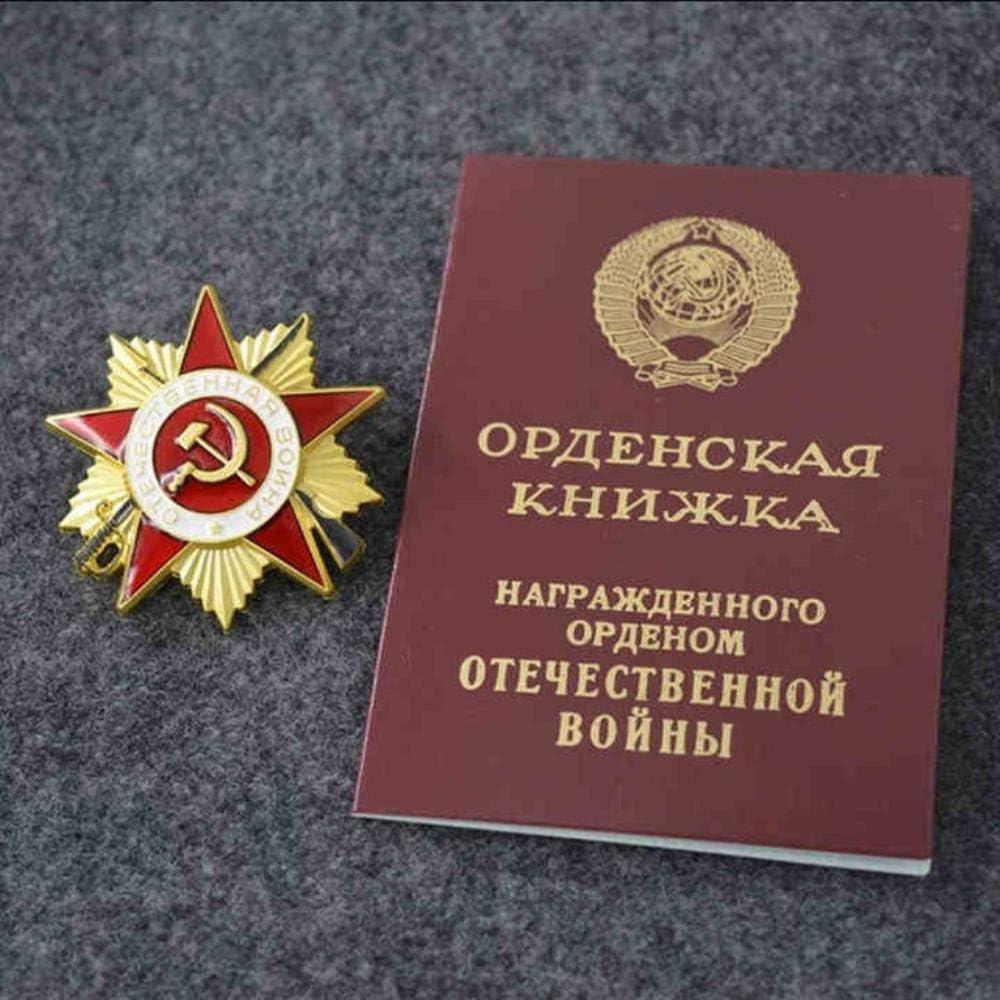 Distintivo della Stella doro della Seconda Guerra Mondiale URSS Unione Sovietica Lavoro Gloria Medaglia dOnore Medaglia CCCP Ordine di Lenin Medaglie Stella Rossa Marrone