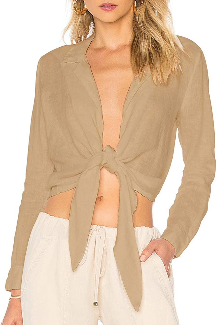 Femme De Dentelle T-Shirts Manche Longue Tunique Bikini Cover Up