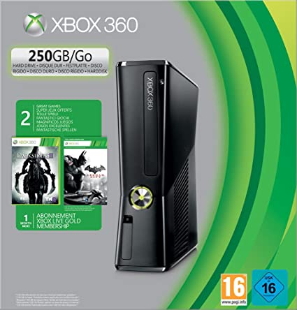 Xbox 360 - 250 GB, Incluye Darksiders 2, Batman Arkham City Y Un Mes De Live: Amazon.es: Videojuegos