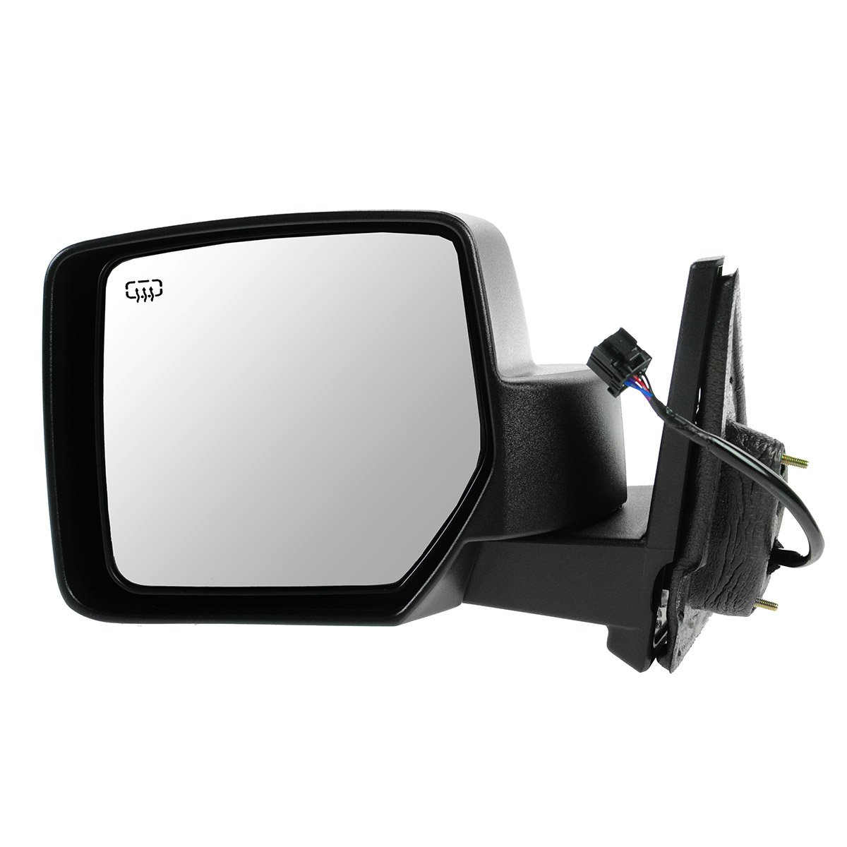 Mirror Power Heated Black Textured Driver Side Left LH for 07-15 Jeep Patriot 1A Auto