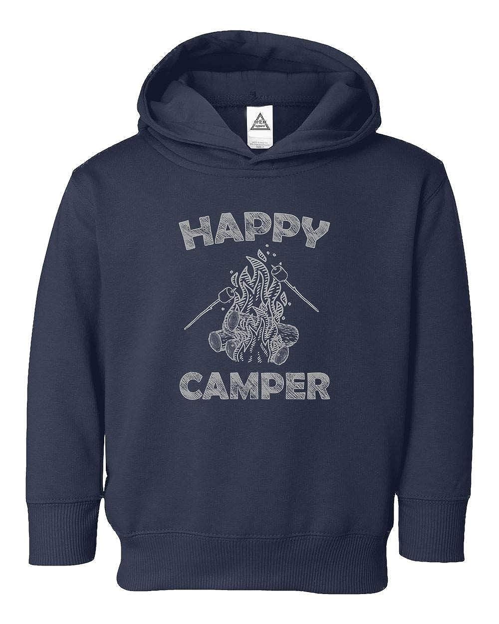 Happy Camper Cool Camping Vintage Funny Retro Design Little Pullover
