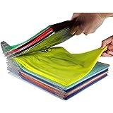 衣類 収納 棚 ケース 仕切り 10枚組折り畳み板 シャツ収納 整理  省スペース
