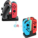 Switch Pro Controller Dual Charger Nintendo Switch Joy-Con Charging Dock Station Stand with LED Indication with Free Type C Cable [video game]