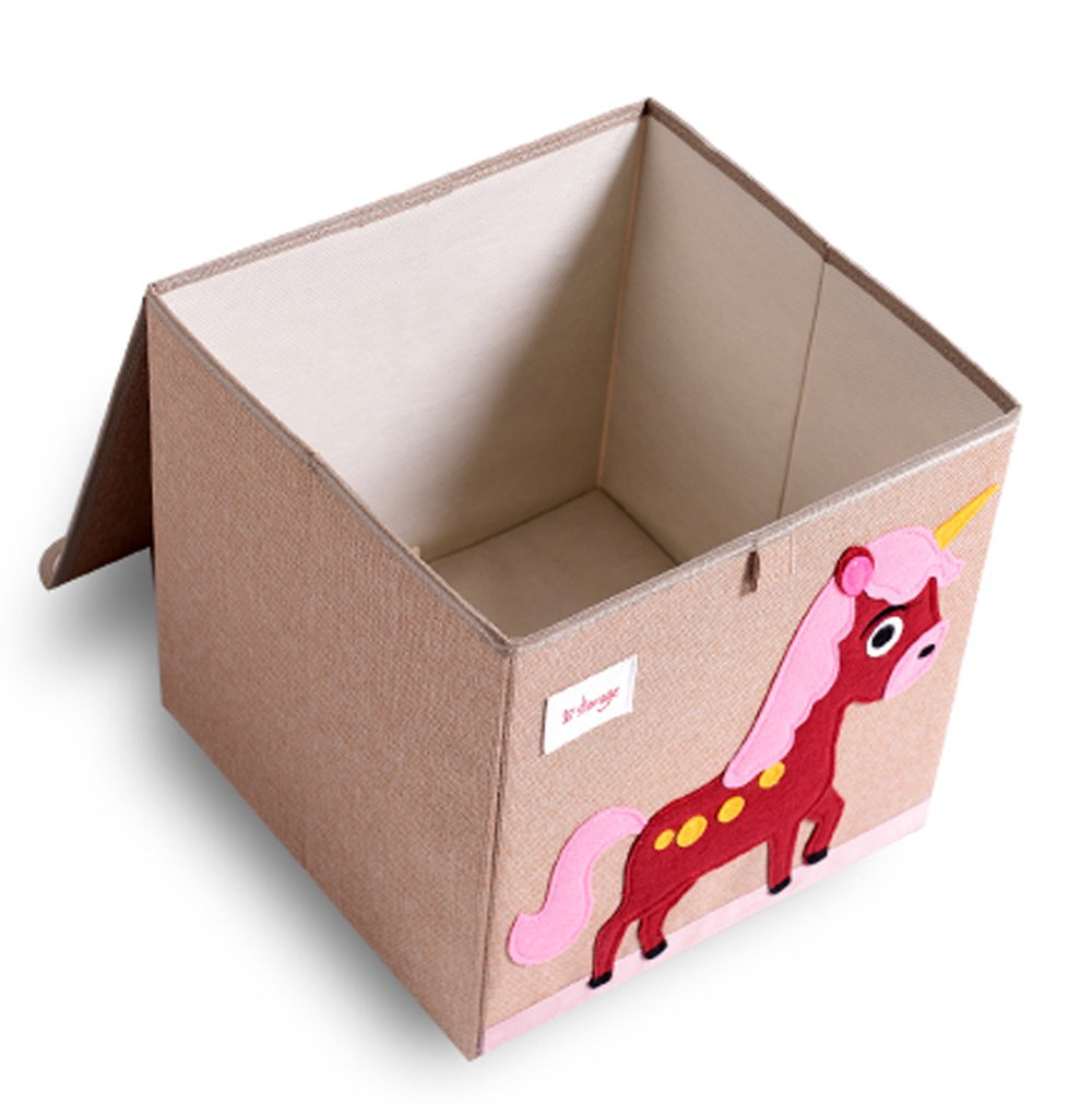 HIYAGON 13''x13''x13''Storage Box/Bin/Cube/Basket/Chest/Organizers with Lids for Bedroom, Nursery, Playroom, Toys, Clothing, Blankets, Books, More(Hedgehog) by HIYAGON (Image #2)