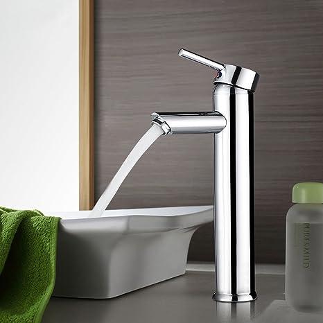 Bonade Hoher Auslauf Waschtischarmatur Chrom Bad Wasserhahn Einhandmischer Mischbatterie Fur Badezimmer Waschbecken
