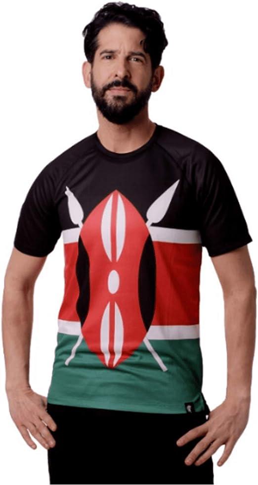 HOOPOE Camiseta Atletismo Kenia Hombre, Manga Corta, Running, Gimnasio #Maasai: Amazon.es: Deportes y aire libre