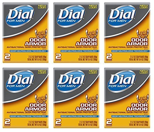 Price comparison product image Lot of 12 Bars (One Dozen) Dial for Men Odor Armour Bar Soap 3.2 oz/bar