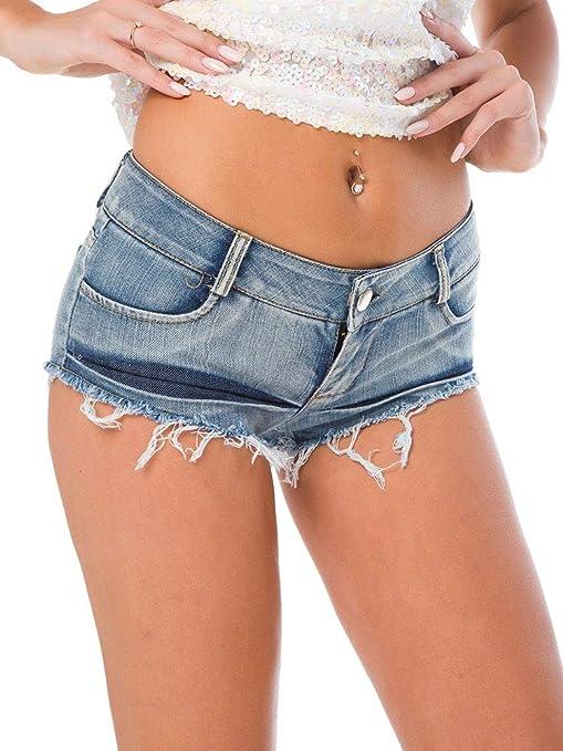 WSXXN Moda Sexy para Mujer Cortar La Cintura Baja Pantalones ...