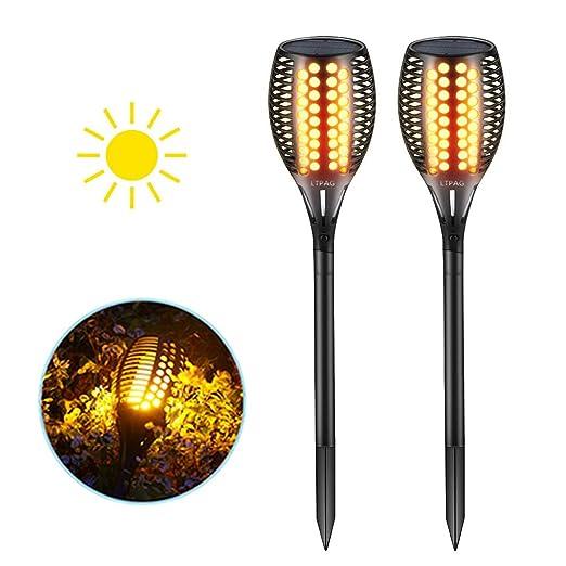 Lampade Solari Da Giardino Amazon.Luci Solari Giardino 96 Leds Ltpag Luci Solari Da Esterno Decorative Giardino Effetto Danza Fiamma Tremolante Realistico Impermeabile Ip65
