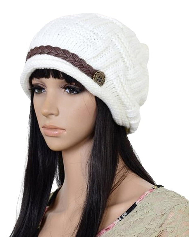 E-futuro@ Women Knit Snow Hat Winter Snowboarding Beanie Crochet Cap