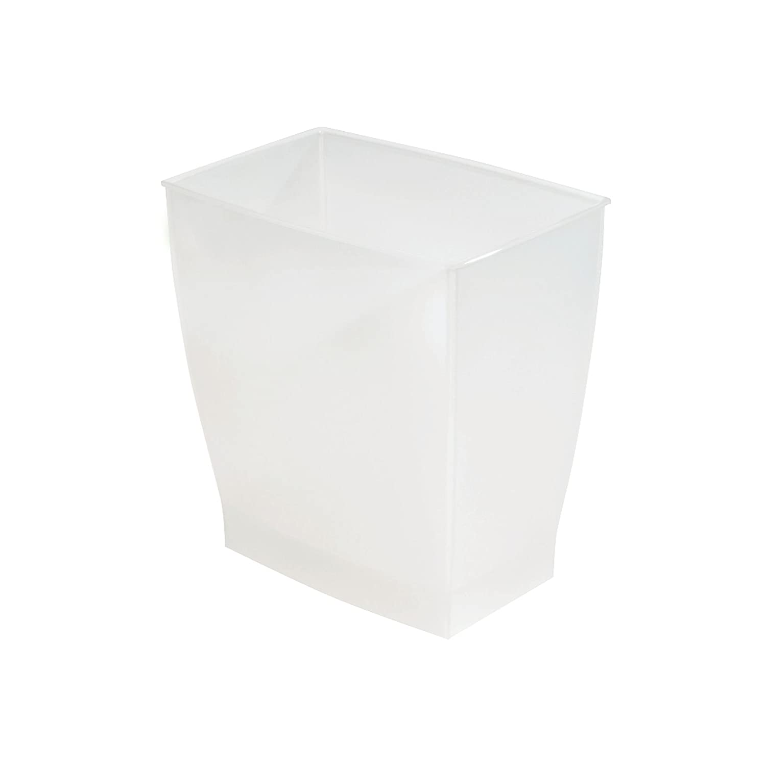 InterDesign Spa Mono 11L Rectangular Can, Frost 64720