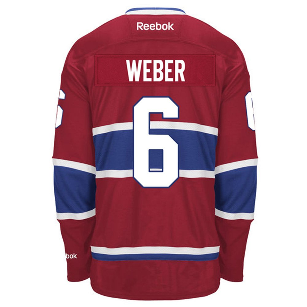 3f4a5b2d4 Amazon.com   Shea Weber Montreal Canadiens NHL Reebok Men s Red Name   Number  Player  6 Jersey   Books