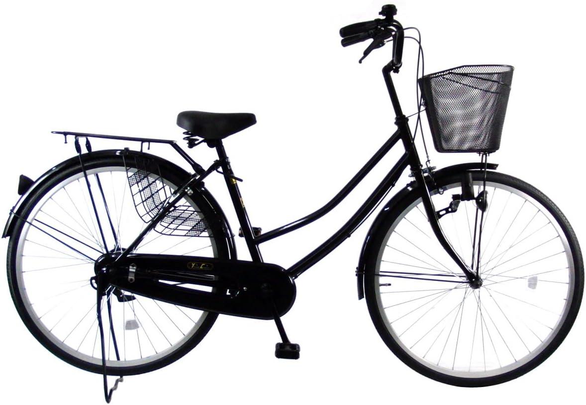 C.Dream(シードリーム) タウンサイクル AL61 26インチ自転車 シティサイクル ブラック 100%組立済み発送