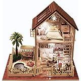 Rylai Wooden Handmade Dollhouse Miniature DIY Kit - Paris Apartment Wooden Dollhouses & Furniture/Parts(1:32 Scale Dollhouse)