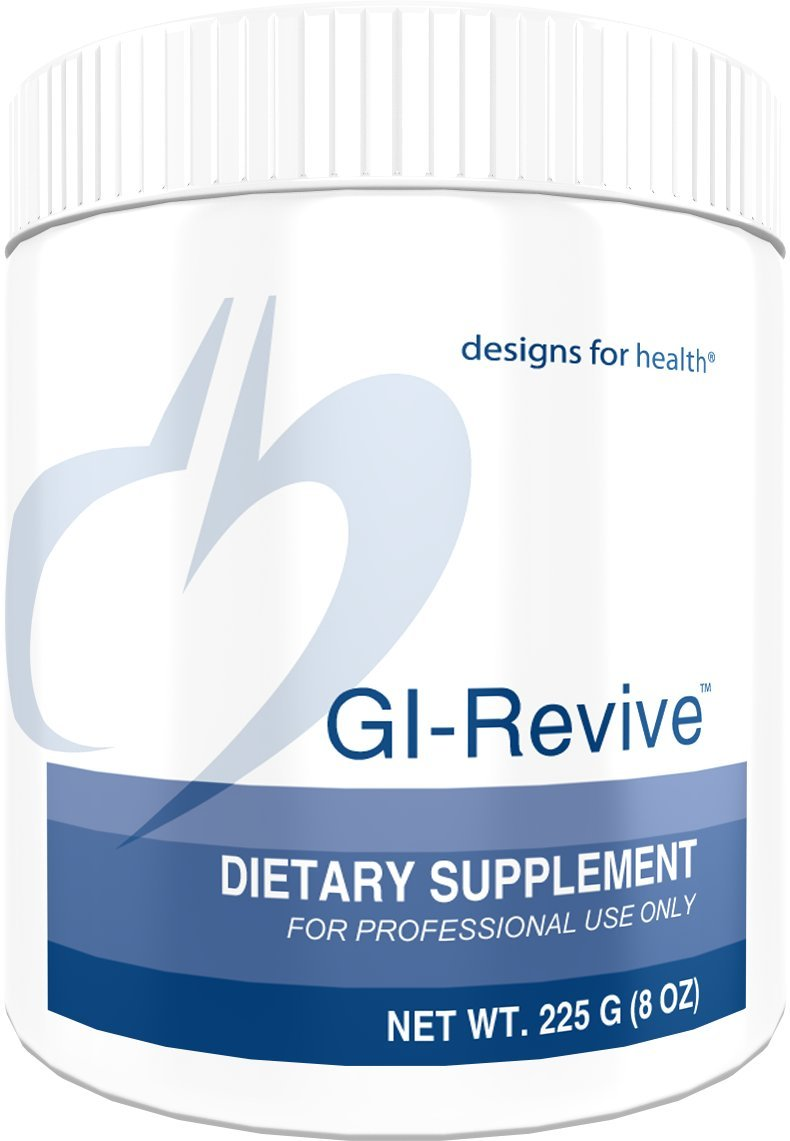 Designs for Health GI Revive Powder - Gut Lining + Regularity Support with Slippery Elm + Marshmallow Root (225g / 28 Servings)