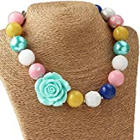 Bouren Fashion Girls Chunky Beads Bubblegum Necklace