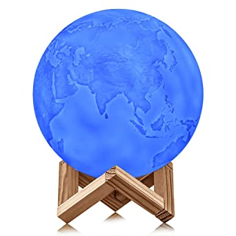 Impression Cm De 15 Lampe TerrestreLed 3d Globe Avec Terre dBCxroe