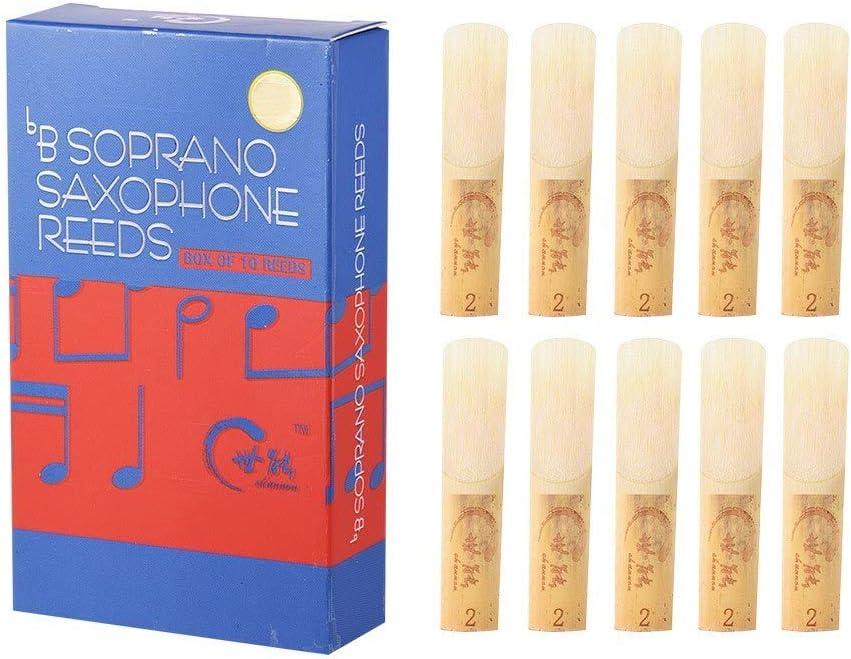 Professional Level Bb Soprano Saxophone Sax Reeds Strength 2.0 10pcs// Box-1#