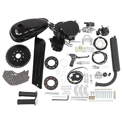black 80cc 2-Stroke Cycle Bike Engine Motor Petrol Gas Kit fr Motorized Bicycle