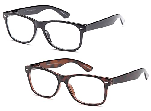 Gamma Ray Deluxe Reading Glasses with Spring Hinge Readers for Comfort fit Men and Women - Choose Yo...