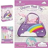 Cleververse Unicorn Plush Toy Sewing Kit for Girls - Craft Stuffed Plush Gift