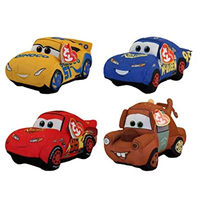 Ty Disney / Pixar Cars 3 Beanie Baby Set of 4: Toys & Games