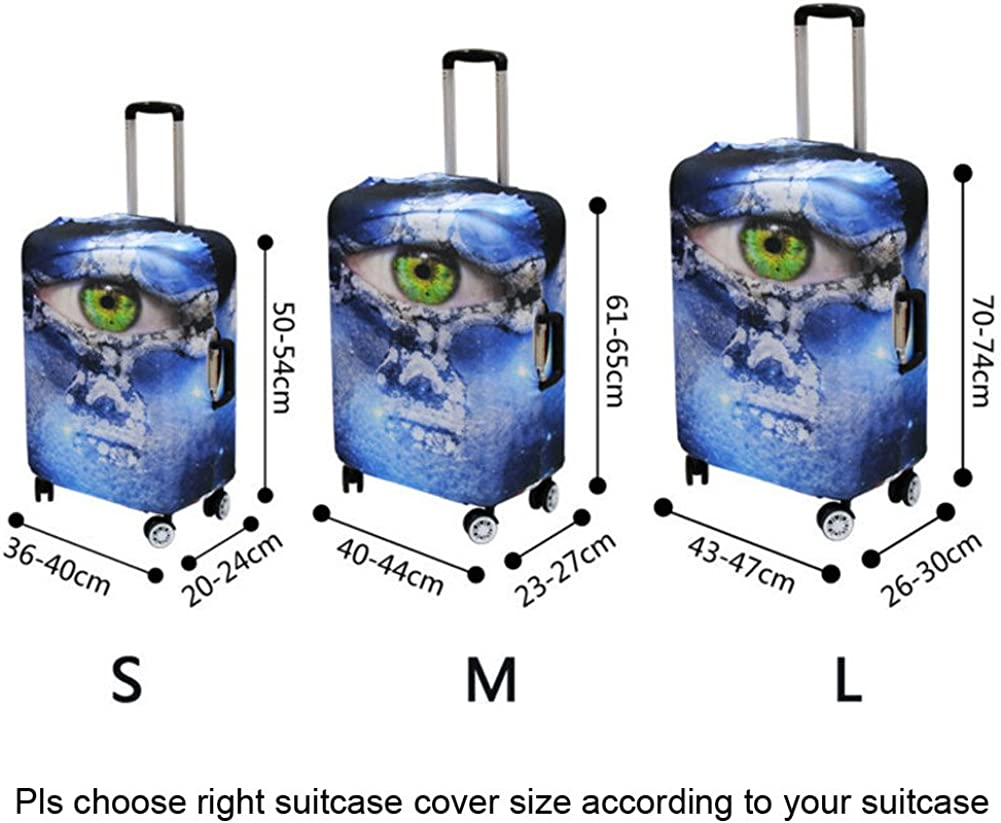 Coloranimal Travel Accessories 3D Tropical Fish Luggage Protective Covers Case