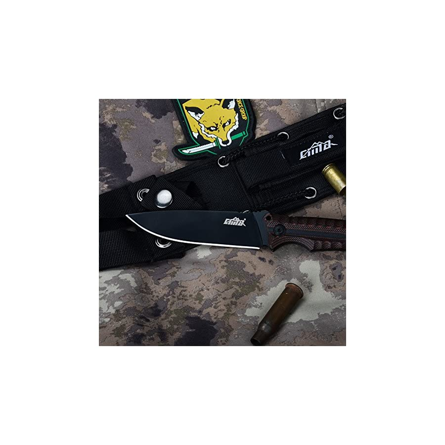 CIMA Fixed Blade Survival Knife Full Tang Hunting Knife with Magnesium Fire Starter